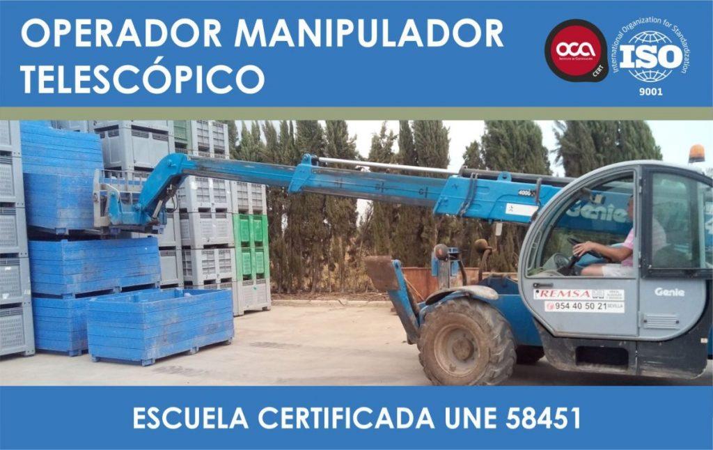 CURSO DE OPERADOR DE MANIPULADOR TELESCOPICO eesea