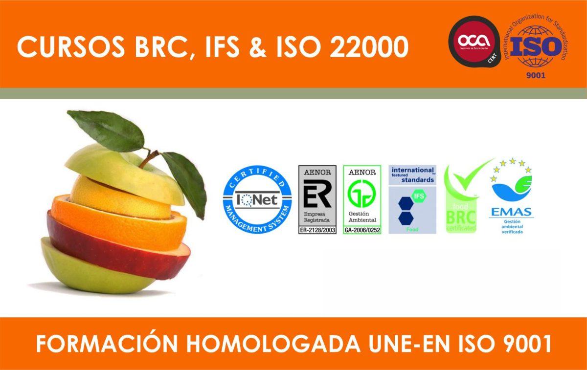 Cursos de Normas de Seguridad Alimentaria BRC, IFS, ISO 22000 eesea